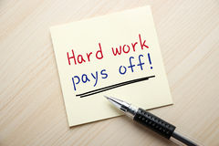 Hard Work Pays Off Stock Image