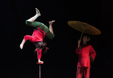 Hard work and practice-Acrobatic showBaixi Dream Night Royalty Free Stock Images