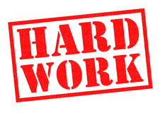 HARD WORK. Red Rubber Stamp over a white background Royalty Free Stock Photo