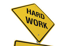 Hard Work Road Sign Royalty Free Stock Photos