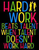 Hard work. Sometimes being more important than talent Stock Photo