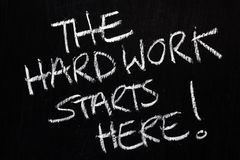 Hard Work Starts Here! Royalty Free Stock Images