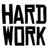 Hard Work typographic stamp. Typographic sign, badge or logo Royalty Free Stock Photos