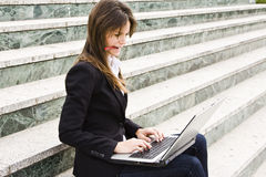 Hard worker businesswoman Stock Photos