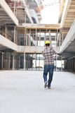 Hard worker on construction site Royalty Free Stock Photos