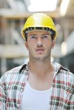 Hard worker on construction site Royalty Free Stock Photography