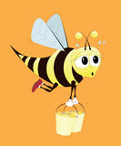 Hard Working Bee Royalty Free Stock Image
