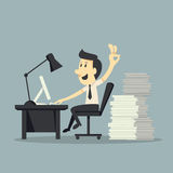 Hard Working vector illustration