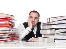 Hard working man. In a office Royalty Free Stock Image