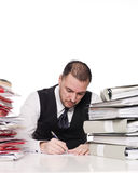 Hard working man. In a office Royalty Free Stock Photography