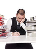 Hard working man. In a office Stock Images