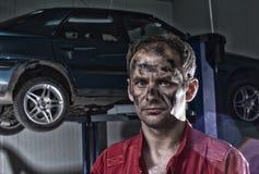 Hard Working mechanic Stock Image