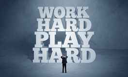 Hard working motivation for business person Royalty Free Stock Photography