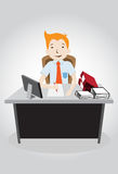 Hard working night in office Royalty Free Stock Photos