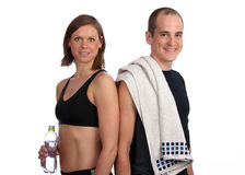 After a hard workout Royalty Free Stock Photo