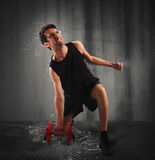 Hard workout Royalty Free Stock Images