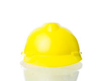 Hard yellow hat for industrial work, engineers, architect isolat Royalty Free Stock Image