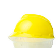 Hard yellow hat for industrial work, engineers, architect isolat Royalty Free Stock Photos