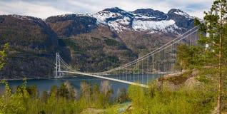 Hardanger桥梁 库存照片