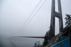 The Hardanger Bridge. The longest suspension bridge in Norway, 1380 metres crossing the Hardanger Fjord in western Norway Royalty Free Stock Image