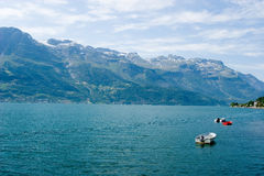 Hardanger fjord, Norway. Small boats on the fjord in Hardanger, Norway Royalty Free Stock Image