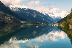 Hardanger Fjord Norway landscape. Royalty Free Stock Photography