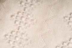 Hardanger stich. Close up of a white hardanger embroidery Royalty Free Stock Photography
