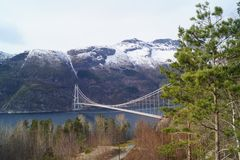 Hardangerbridge in Noorwegen royalty-vrije stock fotografie