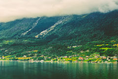 Hardangerfjord is the fourth longest fjord in the Stock Photography