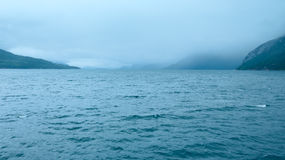 Hardangerfjord summer cloudy view (Norway) Royalty Free Stock Image