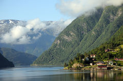 Hardangerfjord, Ulvik Images libres de droits