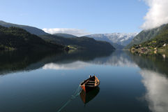 Hardangerfjord, Ulvik Photos libres de droits