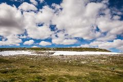 Hardangerjokulen glacier on top of Hardangervidda plateau Stock Image