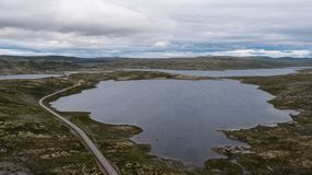 Hardangervidda山区 库存图片