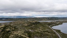 Hardangervidda山区 免版税库存图片