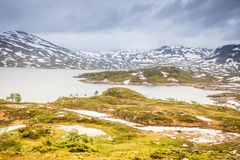 Hardangervidda mountain plateau in Norway Royalty Free Stock Photography