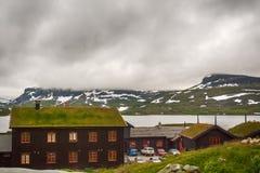 Norwegian village in the wild Royalty Free Stock Photos