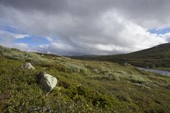 Hardangervidda plateau Stock Photo