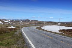 Hardangervidda road Stock Images