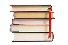 Hardback books with bookmark ribbon Royalty Free Stock Photography