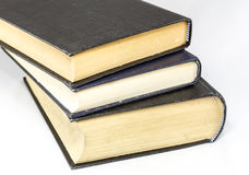 Hardback Books - Horizontal. Stack of hardback books on white background royalty free stock photography