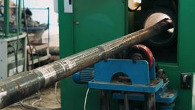 Hardbanding Welding Process Close-up  Drill Pipe