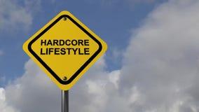 Hardcore lifestyle sign stock footage