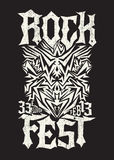 Hardcore Rock fest poster design template Royalty Free Stock Photos