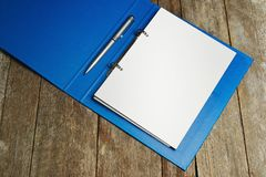 Hardcover binder file Stock Image