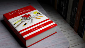 Hardcover book on Craft and Hobbies with illustration on cover Royalty Free Stock Photo