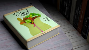 Hardcover book on Diet with illustration on cover Royalty Free Stock Photography