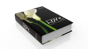 Hardcover book Everything about Love with illustration on cover Royalty Free Stock Photos