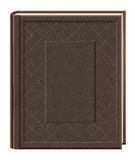Hardcover book. Illustration - brown hardcover book on white background Stock Photos