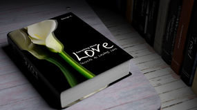 Hardcover book on Love with illustration on cover Royalty Free Stock Photography
